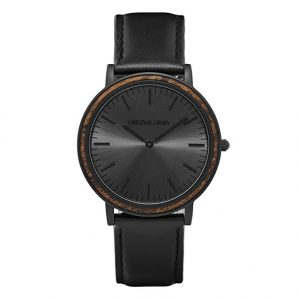 ebony-black-sunburst-minimalist-watch