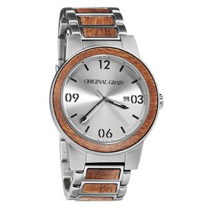 original-grain-mahogany-wood-with-brushed-steel-band