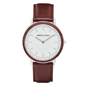 rosewood-chrome-minimalist-watch