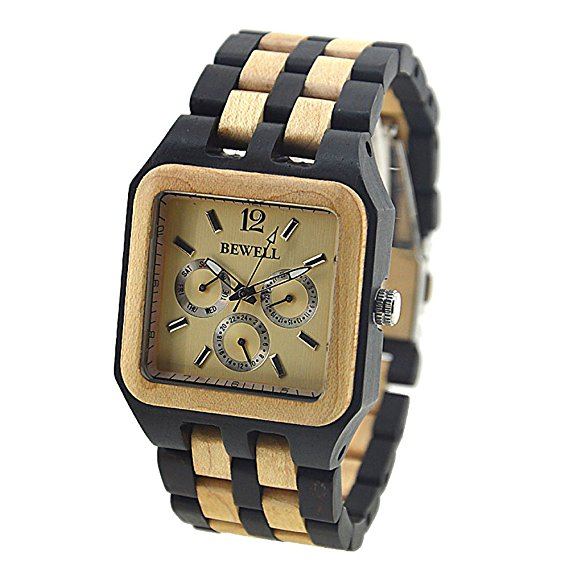 square-shaped-wood-wristwatch-with-luminous-pointers