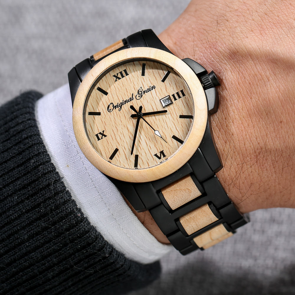 quality minimalist and hand by spark conversation watches compliments luxury woodgrain grain to wood built timepieces get high eye guaranteed original catching that projects