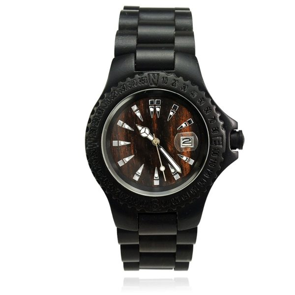 Black Wood - Quartz Analog Watch