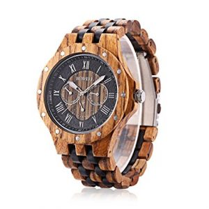 Bewell-W116C-Mens-Wooden-Watch-with-Date-Day-Luminous-Hands-EbZebra-Ebony-Wristwatc (2)