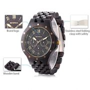 Bewell-W116C-Mens-Wooden-Watch-with-Date-Day-Luminous-Hands-Ebony-Wristwatch-black (4)