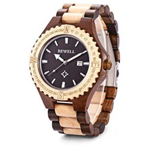 Bewell-W023A-Wooden-Bangle-Quartz-Watch-with-Date-Display-Vintage-Light-Style-for-Men (2)