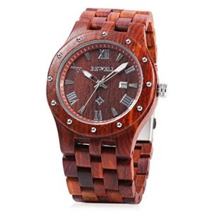 Bewell-W109A-Men-Wooden-Quartz-Watch-Round-Dial-Analog-Handmade-Wood-Wristwatch